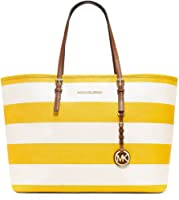 MICHAEL Michael Kors Women's Jet Set Travel Stripe Medium Tote from Michael Kors