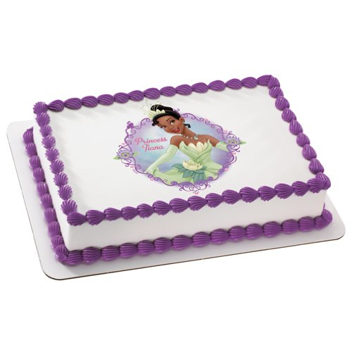 Princess & the Frog Princess Tiana Personalized Edible Cake Image Topper - 1