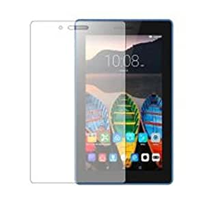 SNOOGG PACK OF 3 Lenovo tab 3 A710F Tablet(7 inch, 8GB,Wi-Fi Only), Ebony Black Full Body Tempered Glass Screen Protector [ Full Body Edge to Edge ] [ Anti Scratch ] [ 2.5D Round Edge] [HD View] – White