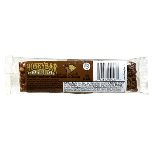 Buy HoneyBar, Chocolaty Peanut Butter, 1.6-Ounce Bars (Pack of 12) (HoneyBar, Health & Personal Care, Products, Food & Snacks, Breakfast Foods)