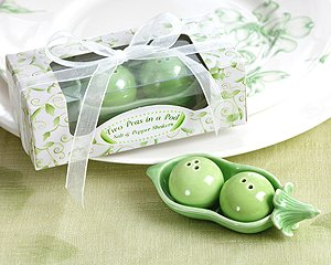 Two Peas in a Pod - Ceramic Salt & Pepper Shakers in Ivy Print Gift Box (Set of 24) (Peas In Pod Salt compare prices)