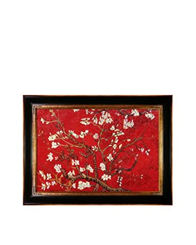"Vincent van Gogh ""Branches Of An Almond Tree In Blossom (Red)"" Framed Hand-Painted Oil Rep..."
