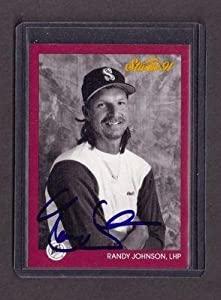 Signed Randy Johnson Photo - 1991 MARINERS card Leaf Seattle CY Young - Autographed... by Sports+Memorabilia