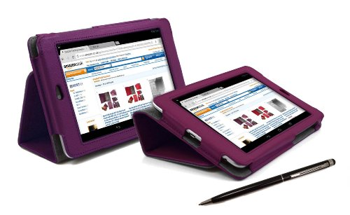 Amazon Kindle FIRE PURPLE Faux Leather PropUp Case Cover with incorporated Stand Feature for New Amazon Kindle Fire 7