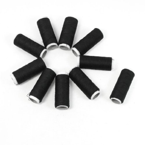Seamstress Tailor Hand Embroidery Sewing Quilting Thread Spools Black 10 Pcs front-163242