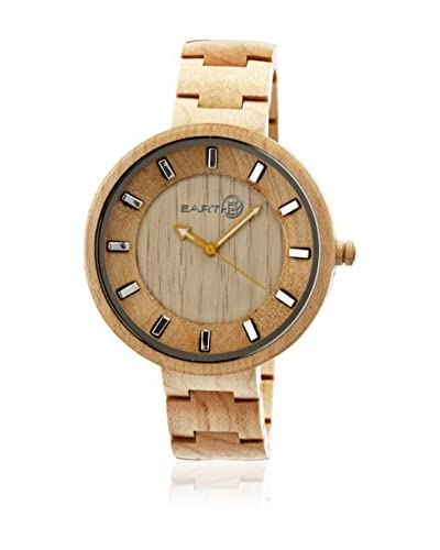 Earth Reloj con movimiento cuarzo japonés Branch Ethew2801 Beige 44  mm