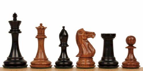 New Exclusive Staunton Chess Set in Ebonized Boxwood & Golden Rosewood - 3.5