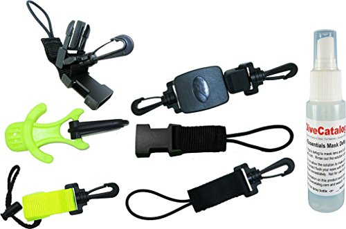 Basic Scuba Diver Accessories Pack (MSRP $82) - Dive Essentials by DiveCatalog (Octopus Bungee Cord compare prices)