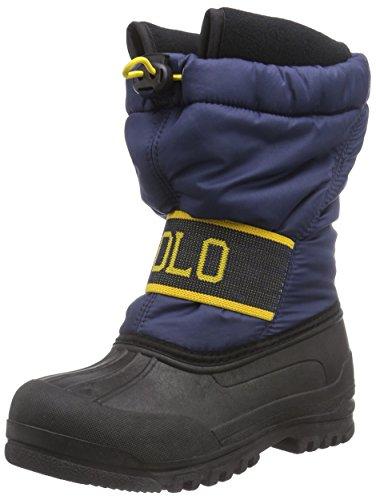 Polo Ralph Lauren Jakson, Stivali Ragazzi, Multicolore (Navy Nylon w Yellow), Taglia 33 EU
