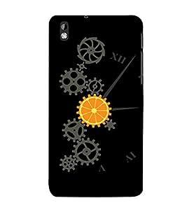 printtech Cool Mechanical Orange Design Back Case Cover for HTC Desire 816::HTC Desire 816 G