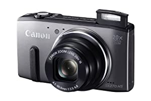 Canon Powershot SX270 HS 12 MP Digital Camera with 20x Optical Zoom and 3-Inch LCD Display, Gray (8228B005)