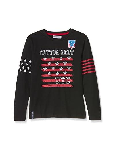 Cotton Belt Camiseta Manga Larga Negro