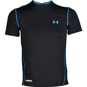 Under Armour Herren Shirt Heatgear Sonic Fitted Short Sleeve T, Black/Elb, L, 1236251-005