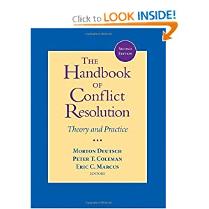 冲突解决手册THE HANDBOOK OF CONFLICT RESOLUTION, SECOND EDITION