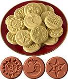 JBK Pottery Cookie Stamp Set - Sky