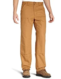 Carhartt Men\'s Double Front Work Dungaree Washed Duck,Brown,32 x 34