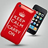 "iPhone Apple 3G 3GS ""Keep Calm And Carry On"" Hard Back Case and Screen Protectorby OLIVIASPHONES"