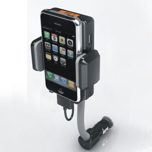Allkit Fm Transmitter + Car Charger For Ipod/Iphone 4G 4S 3G 3Gs