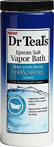 Dr. Teal's Cold and Allergy Epsom Salt Vapor Bath (22-Ounce) Camphor Bath