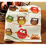 TAG Perched Owl Dishtowel