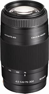 Sony 75-300mm f/4.5-5.6 Compact Super Telephoto Zoom Lens for Sony Alpha Digital SLR Camera