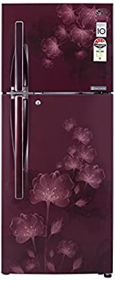 LG GL-D322JSFL Frost-free Double-door Refrigerator (310 Ltrs, 4 Star Rating, Scarlet Florid)