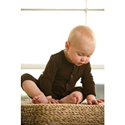 KicKee Pants Coverall, Bark, 3-6 Months