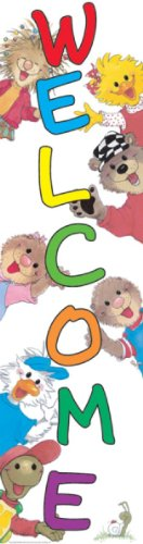 Eureka Suzy's Zoo Vertical Classroom Banner, Welcome, 45 x 12 Inches (849600)