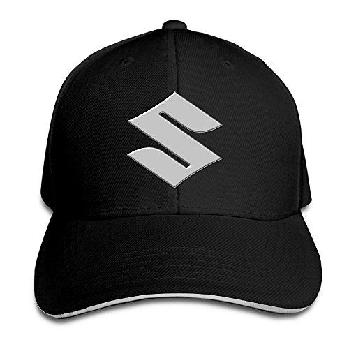 hittings-suzuki-motorcycle-logo-adjustable-snapback-peaked-cap-beisbol-hats-black