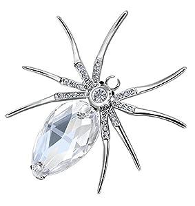 Swarovski Elements - Broche araignée géante en cristal - 57 x 55 mm