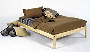 Twin Size - Solid Wood Platform Bed Frame - Clean, Unfinished, Chemical Free Pine - Made in USA