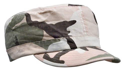 Subdued Pink Camouflage Vintage Adjustable Rip-Stop Cap (Womens)