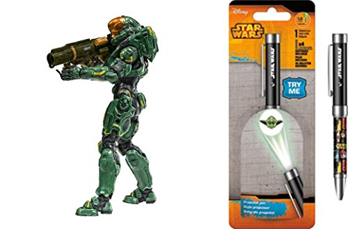 Super Hero Halo 5: Guardians Series 2 Spartan Hermes Action Figure & Free Star Wars Projector Pen, Colors may vary Toys