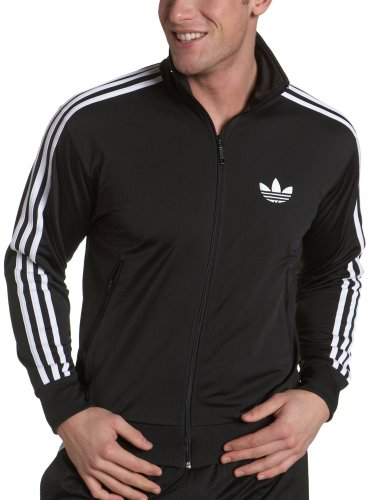 adidas Men's adi Firebird Track Top (Black/White, XXX-Large)