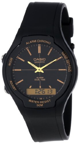 Casio Men's AW90H-9E Sport Multi-Function Black Dial Dual Time Watch
