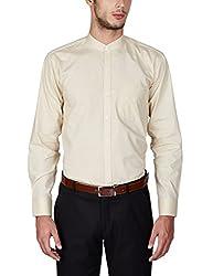 Arihant Men's 100% Cotton Formal Stand Collar Shirt(AR71671_44_ Beige)