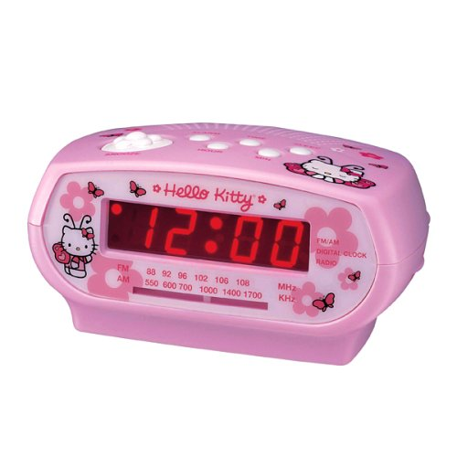 HELLO KITTY AM/FM Alarm Clock Radio
