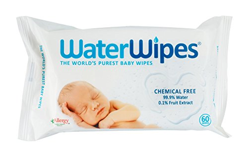 WaterWipes  Natural Sensitive Chemical-Free Baby Wipes 4 x 60 Wipes ( Total 240 Wipes)