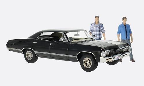 chevrolet-impala-sport-sedan-schwarz-supernatural-1967-modellauto-fertigmodell-greenlight-118