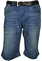 Herren 5 Pocket Bermuda Jeans in Hellblau, Artikel Clint