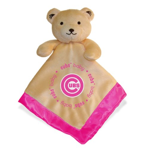 Mlb Chicago Cubs Baby Fanatic Snuggle Bear Blanket, Pink front-560820