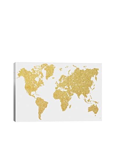 Natasha Westcoat Gold Map Canvas Print As You See