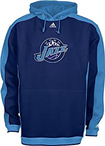 Utah Jazz NBA Blue Embroidered Dream Hooded Fleece Sweatshirt By Adidas by adidas
