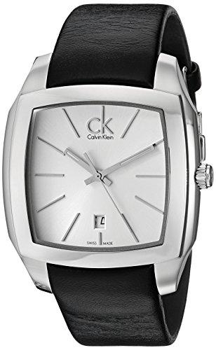 Calvin Klein K2K21120 - Reloj analógico de cuarzo para hombre con correa de piel, color negro