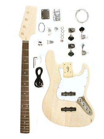 Stellah Unfinished Jazz Bass Guitar Kit Project - Diy
