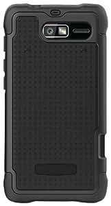 Ballistic SG1075-M005 SG Case for Motorola Droid Razr M - Black Silicone/Black TPU/Black PC - 1 Pack - Retail Packaging - Black