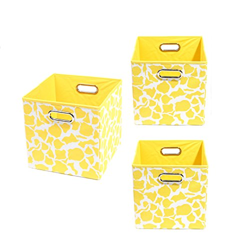 Modern Littles Organization Bundle-3 Storage Bins, Rusty Giraffe
