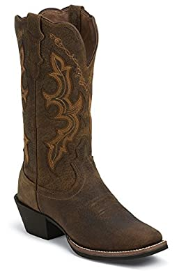Buy Justin Ladies Stampede Waterproof Cowgirl Boot Square Toe by Justin