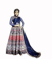 Kashmira's silk digital printed and handwork anarkali suit