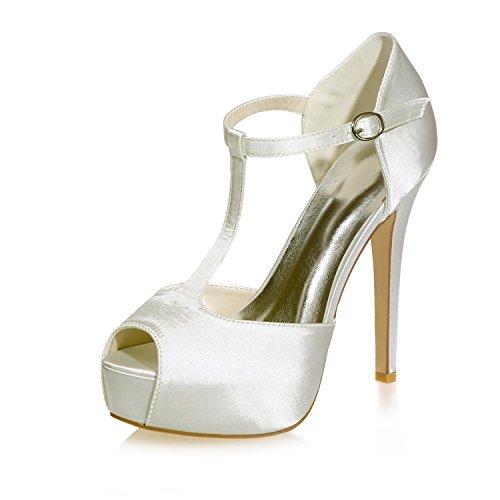 Ei&iLI Scarpe Peep Toe Sandali da sposa donna / Party & scarpe da sposa sera più colori disponibili , champagne , 37
